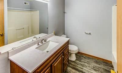 Bathroom, Rainbow Apartments, 2