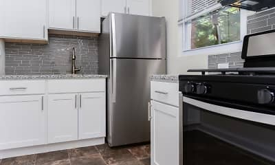 Kitchen, Elmwood Village Apartments & Townhomes, 0