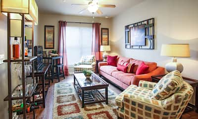 Living Room, The Muses Apartment Homes, 1