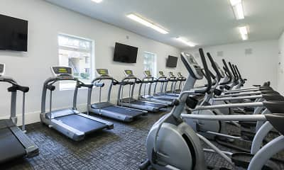 Fitness Weight Room, Valley West Apartments, 1