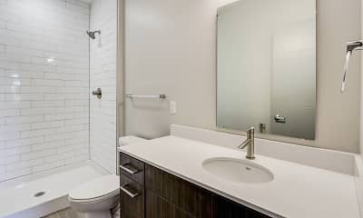 Bathroom, The Homes at Rivers Edge Apartments, 2