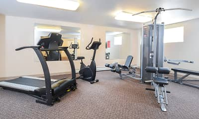 Fitness Weight Room, Knollwood Apartments, 2