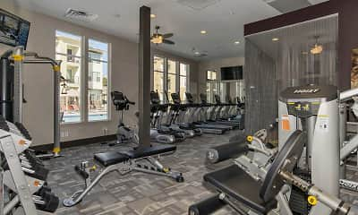 Fitness Weight Room, Apartments at Plano West, 2
