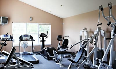 Fitness Weight Room, Lakewood Village Apartments, 1