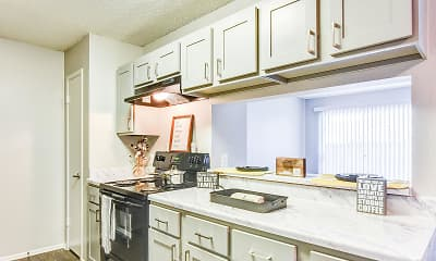 Kitchen, Oaks at Creekside Apartments, 1