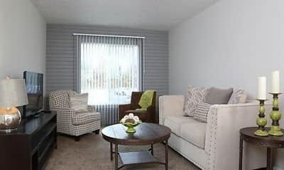Living Room, Turning Leaf Apartments, 0