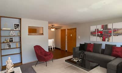 Living Room, Broadway West Apartments, 0