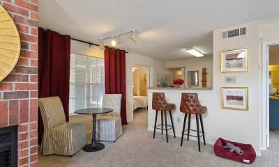 sitting room with a breakfast bar and carpet, Gables Citywalk/Waterford Square, 1