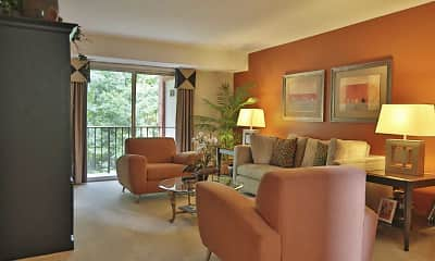 Living Room, Liberty Gardens Apartments & Townhomes, 1