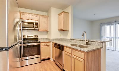 Kitchen, Fox Run Apartments, 1