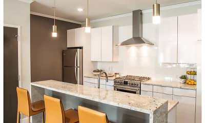 Kitchen, Nineteen North Apartments, 1