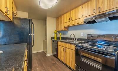 Kitchen, Laurel Oaks Apartments, 1