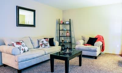 Living Room, Ashton Apartments, 1