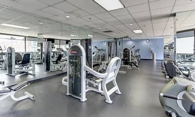 Fitness Weight Room, Lake Shore Plaza, 2