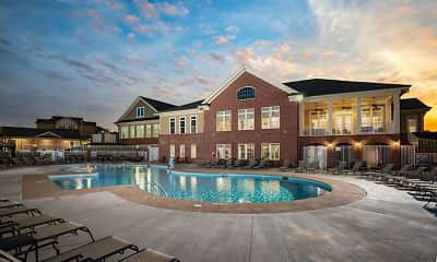 Pool, Villages at Raleigh Beach Apartments, 2