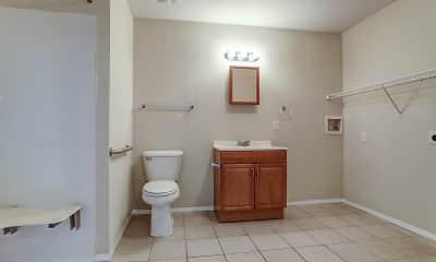 Bathroom, Creekside Apartments, 2