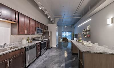 Kitchen, Fourth & Plum Apartments, 2
