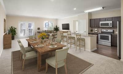 Dining Room, Camden Riverwalk Apartments, 1