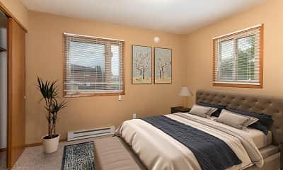 Bedroom, Windsor Court Apartments, 1