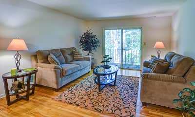 Living Room, Woodmere Apartments, 1