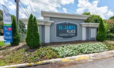 Community Signage, St. James Place, 2