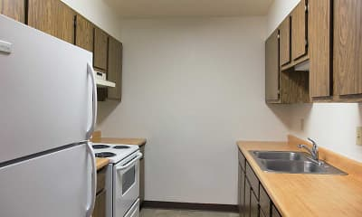 Kitchen, Harrison Apartments, 1