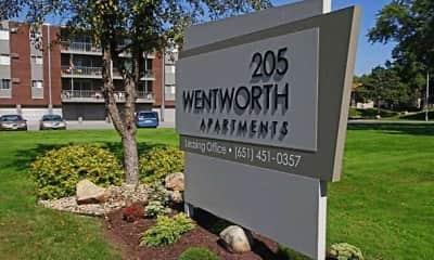 Community Signage, Wentworth Apartments, 0
