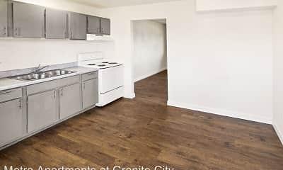 Kitchen, Metro Apartments at Granite City, 0