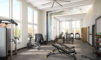 Fitness Weight Room, Icon Apartment Homes At Hardin Valley, 0
