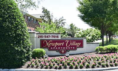 Community Signage, Newport Village Apartments, 0