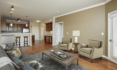 Living Room, The Briarcliff City Apartments, 1
