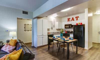 Dining Room, GrandMarc at University Village: Off-Campus Student Housing, 1