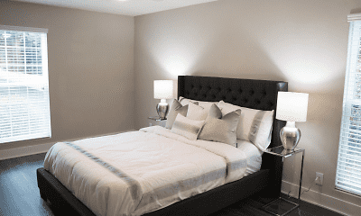 Bedroom, Park Terrace Apartments, 2