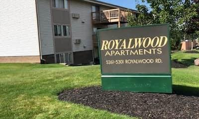 Community Signage, Royalwood Apartments, 0