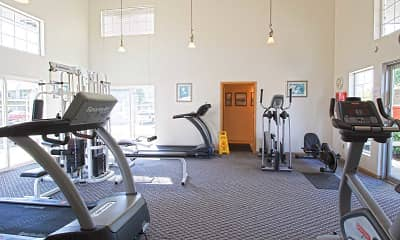 Fitness Weight Room, Brookhollow Apartments, 1