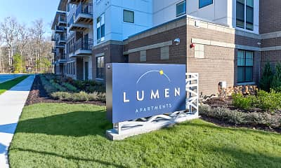 Community Signage, Lumen Apartments, 2