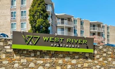 Community Signage, West River Apartments, 2