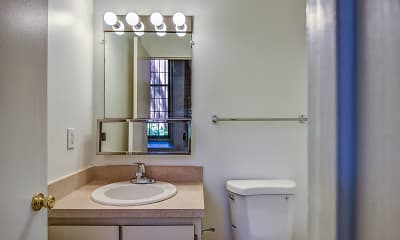 Bathroom, Ribbon Mill Apartments, 2