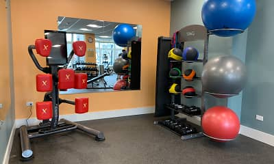 Fitness Weight Room, Burlington Station Luxury Residences, 1