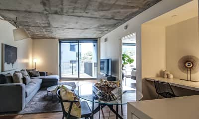Living Room, The Apartment Residences at AKA, 1