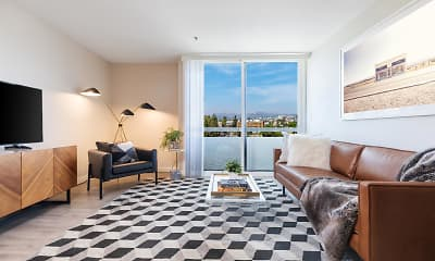Living Room, CitiZen at Virgil Village, 1