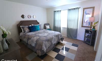 Bedroom, Camelot Apartments, 1
