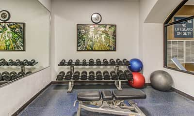 Fitness Weight Room, Flex Stay @ Westshore, 2