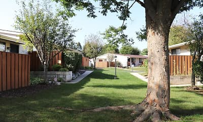yard with a large lawn, Sunset Ridge Apartments, 1