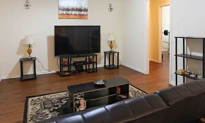 Living Room, Camellia Apartments, 1