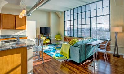 Living Room, The Lofts At Yale And Towne, 0