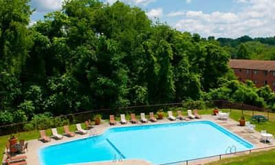 Pool, Monroeville Apartments, 2
