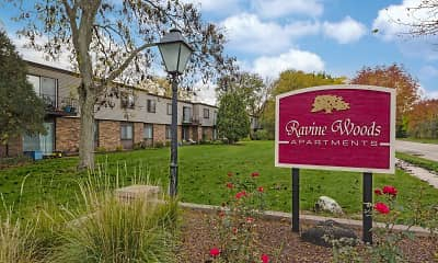 Community Signage, Ravine Woods Apartments, 2