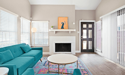 Living Room, The Townhomes on Peacock Hill, 1