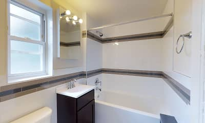 Bathroom, Bound Brook Apartments, 2